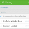 Evernote adds reminders to Android