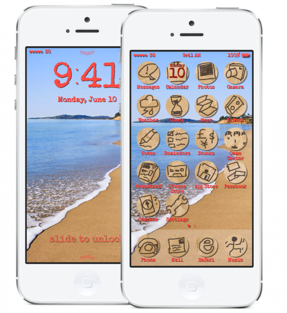 Afternoon fun: redesign iOS7 yourself