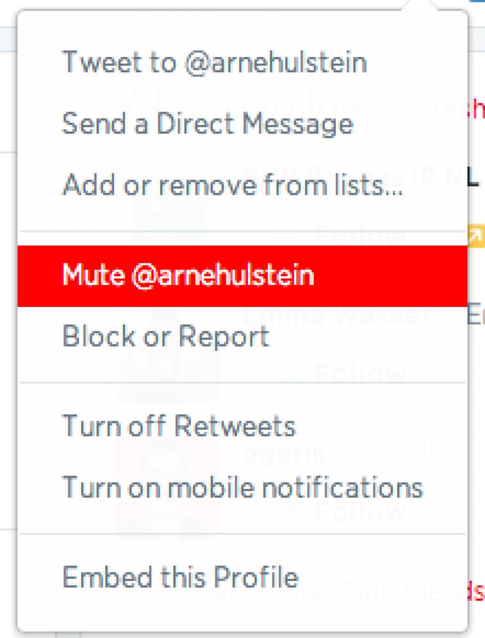 Twitter laat je mensen de mond snoeren